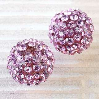20pcs 12mm Crystal Resin Disco Ball Findings Charm Loose Beads Jewelry