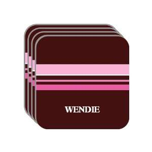 Personal Name Gift   WENDIE Set of 4 Mini Mousepad Coasters (pink