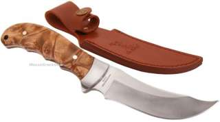 Elk Ridge Burl Wood Curved Hunting/Skinning Knife NEW Hunter |
