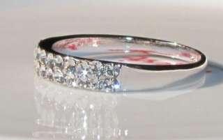 Brilliant CUT WHITE GOLD GP WEDDING ENGAGEMENT RING
