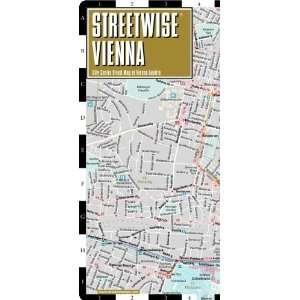 Map   Laminated City Center Street Map of Vienna, Austria [Map
