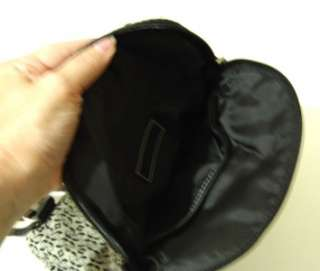 FOSSIL Blk Signature Fabric Backpack Purse Handbag Bag Small