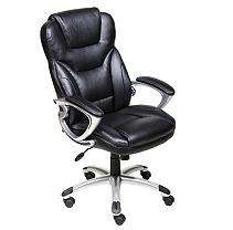 Black Bonded Leather Executive Chair