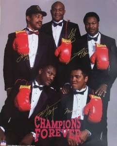 Forever Autograph Boxing Glove Signed Muhammad Ali Joe Frazier Foreman