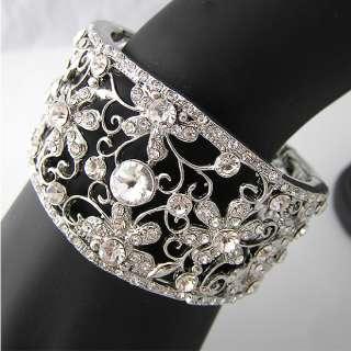 Elegant Bracelet Bangle Cuff W swarovski crystal B079
