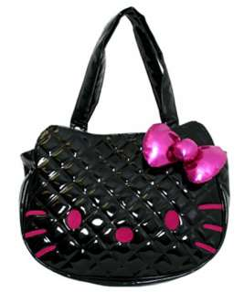 Loungefly HELLO KITTY BAG   BLACK QUILTED FACE TOTE BAG