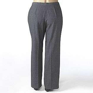 Plus Flat Front Tailored Pant  Sag Harbor Clothing Womens Plus
