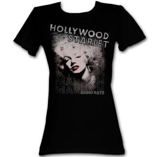 Licensed Marilyn Monroe Hollywood Starlet Junior Shirt S XL