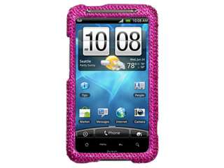 RHINESTONE BLING CASE COVER HTC INSPIRE 4G HOT PINK