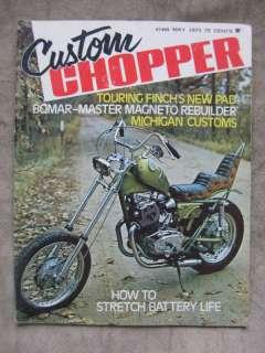 1973 Custom Chopper Magazine Harley Davidson Honda