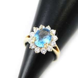 Gold plated ring Victorina white.   Taille 50 Jewelry