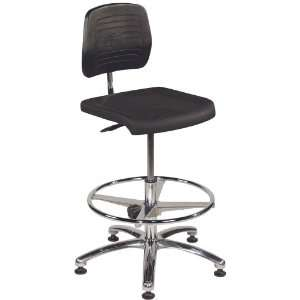 Standard Clean Room Chair with Adjustable Chrome Foot Ring and Padded