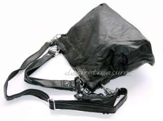 High quality Italian Calf Leather Hand Bag Purse Black