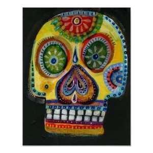 Sugar Skull   Day of the Dea Print