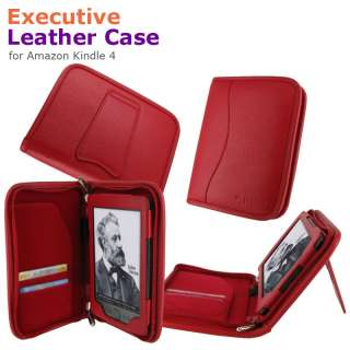 rooCASE Executive Leather Case Cover for  Kindle 4 Latest Model