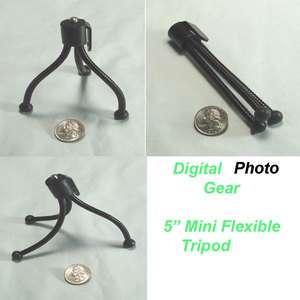For Digital Camera Webcam Mini Flexible Travel Tripod Canon Fuji Nikon