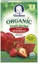 Gerber Organic Fruit Strips   Strawberry   Gerber Foods   BabiesRUs