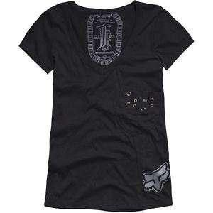 Fox Racing Womens One Love T Shirt   Large/Black Automotive