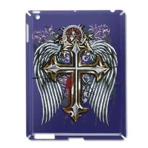 iPad 2 Case Royal Blue of Cross Angel Wings