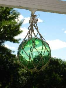 Vintage MAI KAI Tiki Bar Green 5 Glass Ball Float