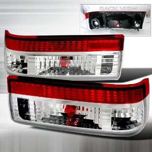 TOYOTA COROLLA AE86 GTS RED/CLEAR TAIL LIGHTS Automotive