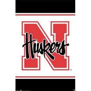 University of Nebraska Cornhuskers Logo Poster Sports