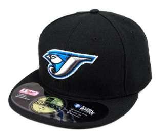 5950 MLB Fitted Hat Cap Toronto Blue Jays Game Black Blue White