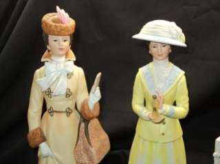 FRILLY MRS ALBEE 1981 1982 1983 FIGURINE x3 AVON LADIES