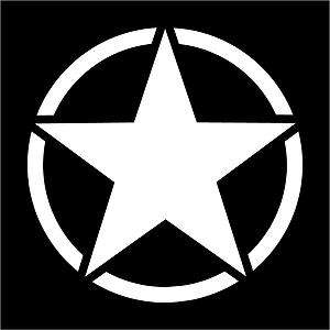 Jeep Willys Army Star Hood Decal   vinyl sticker 16