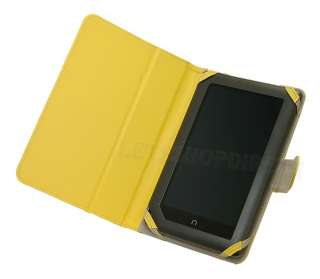 VIEW LEATHER STAND CASE COVER FOR BARNES AND NOBLE NOOK TABLET