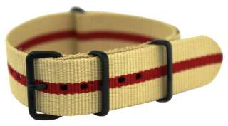 20MM PVD STRIPPED nylon NATO Watch Band Strap fit TIMEX WEEKENDER