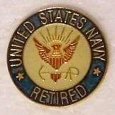 Hat Lapel Push Tie Tac Pin U S Navy Retired NEW