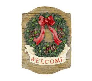 Balsam Wreath Plaque with Welcome Banner by Valerie Parr Hill