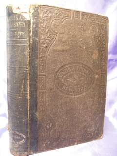 Natural Philosophy Civil War Era Book of Philosophy 1860