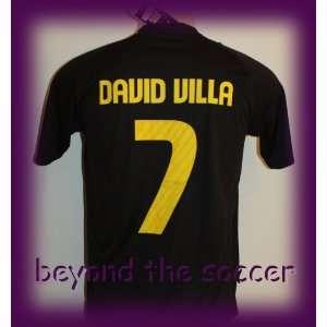 FC BARCELONA AWAY DAVID VILLA 7 FOOTBALL SOCCER JERSEY LARGE