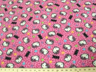 HELLO KITTY HOT PINK LEOPARD FLEECE A33 $9.99/YD