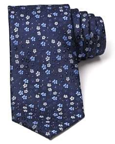 The Mens Store at  Textured Floral Classic Tie
