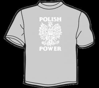 POLISH POWER T Shirt WOMENS funny vintage poland polska