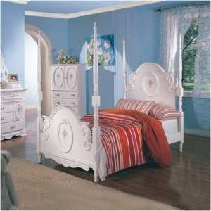 Wildon Home Vernon Girls Poster Bed in White Twin or Full Size New