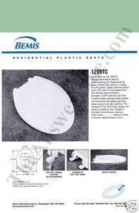 Bemis 1200TC 035 Elongated Toilet Seat   SEA GREEN