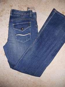 NWT REBA Medium Wash Boot Cut Flap Packet Jean 4 $88