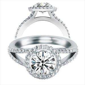 83 Ct Round Cut Engagement Ring 14K Solid Gold
