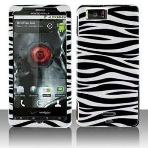 Droid X MB870 Droid X2 Black Whie Zebra Case Cover Proecor (free