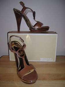 Michael Kors Niki T Strap brown sandal