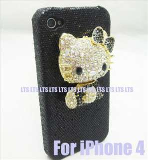 Bling Hello Kitty hard Case Cover for iPhone 4 BK3
