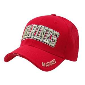 Rapid Dominance RED US Marine Text Cap Baseball Cap