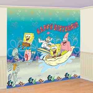 SPONGEBOB SQUAREPANTS 6pc GIANT DECORATING KIT ~ Birthday Party
