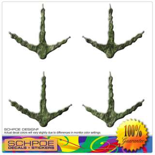 mossy green CAMO TURKEY TRACKS decal hunting gobbler