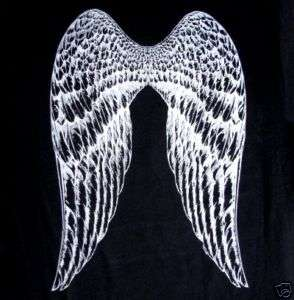 ANGEL FAIRY PIXIE OVERSIZE WINGS IN SILVER T SHIRT WS70