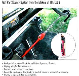 THE CLUB ANTI THEFT SECURITY STEERING WHEEL PEDAL LOCK #CL303